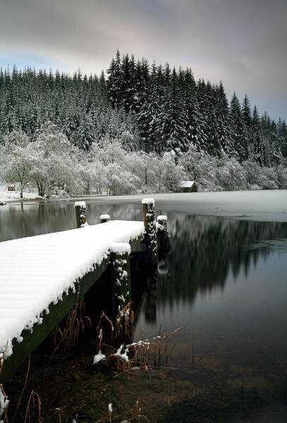Photograph - Loch Ard Winter Scene by Grant Glendinning