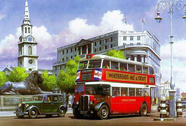 Transport Painting - London Transport Stl by Mike Jeffries