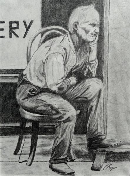 Wall Art - Drawing - Long Ago Regrets by Charles Rogers