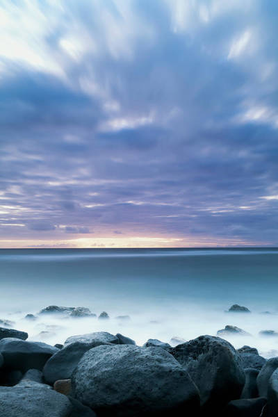 Wall Art - Photograph - Long Exposure Of The Surf Along Wailua by Ian Ludwig