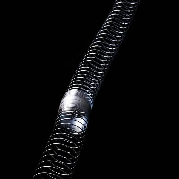 Demonstration Photograph - Longitudinal Wave by Science Photo Library