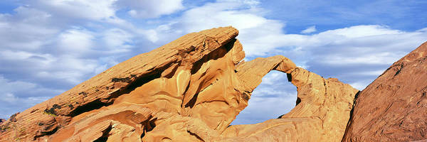 Valley Of Fire Photograph - Low Angle View Of Rock Formations by Panoramic Images