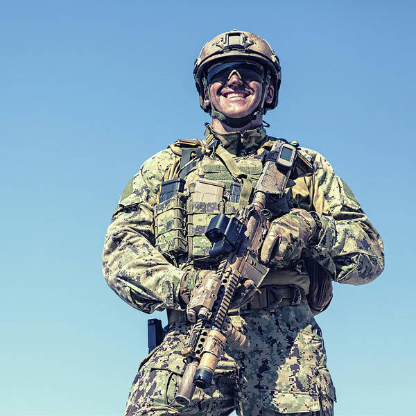Wall Art - Photograph - Low Angle View Of Special Forces by Oleg Zabielin