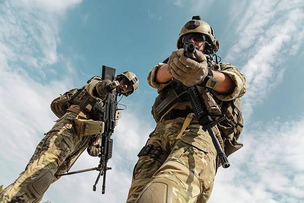 Wall Art - Photograph - Low Angle View Of U.s. Army Rangers by Oleg Zabielin
