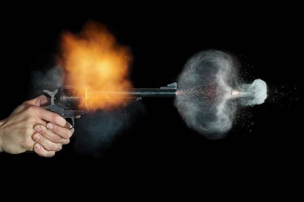 Firepower Photograph - Magnum Revolver Shot by Herra Kuulapaa � Precires