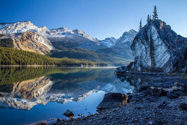Photograph - Maligne Lake Jasper National Park Alberta Canada by Pierre Leclerc Photography