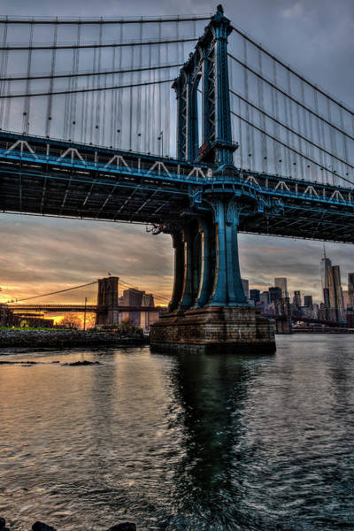 Wall Art - Photograph - Manhattan And Brooklyn Bridges by F. M. Kearney