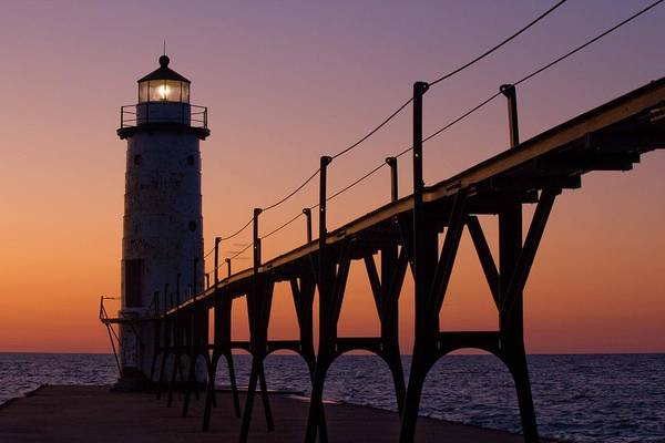 Manistee Photograph - Manistee Lighthouse by Twenty Two North Photography
