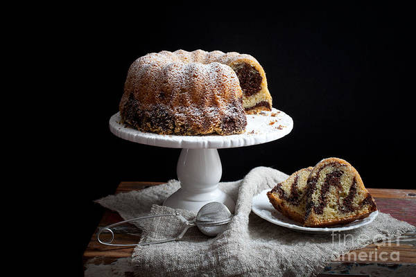 Wall Art - Photograph - Marble Bundt Cake by Kati Finell