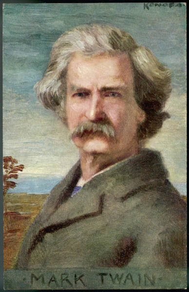 Wall Art - Drawing - Mark Twain American Writer  Born by Mary Evans Picture Library