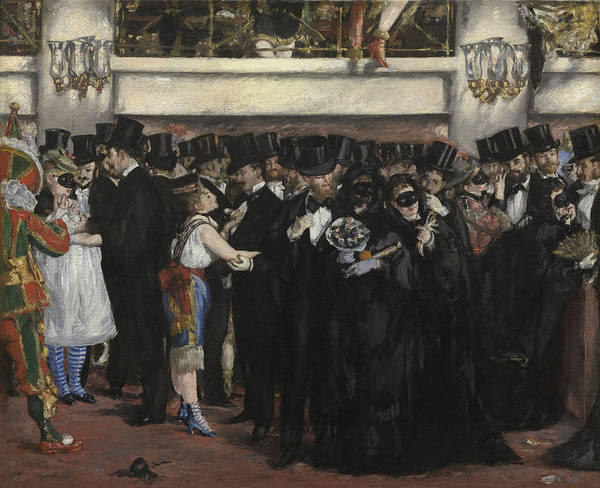Wall Art - Painting - Masked Ball At The Opera by Edouard Manet
