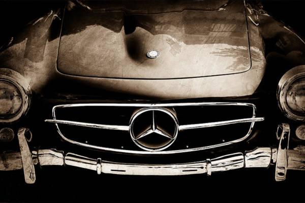 Wall Art - Photograph - Mercedes-benz 190sl Grille Emblem by Jill Reger