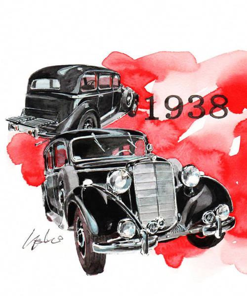 Mercedes Painting - Mercedes Benz 260d Pullman Limousine by Yoshiharu Miyakawa