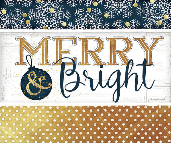 Wall Art - Painting - Merry & Bright by Jennifer Pugh