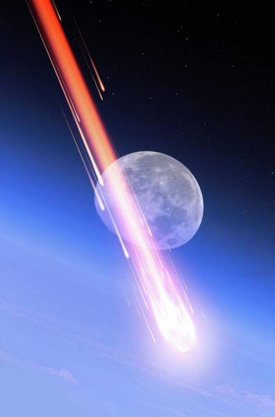 Disintegration Wall Art - Photograph - Meteor Fireball by Detlev Van Ravenswaay/science Photo Library