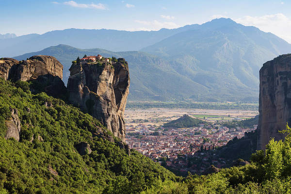 Holy Trinity Photograph - Meteora, Thessaly, Greece. The Eastern by Panoramic Images