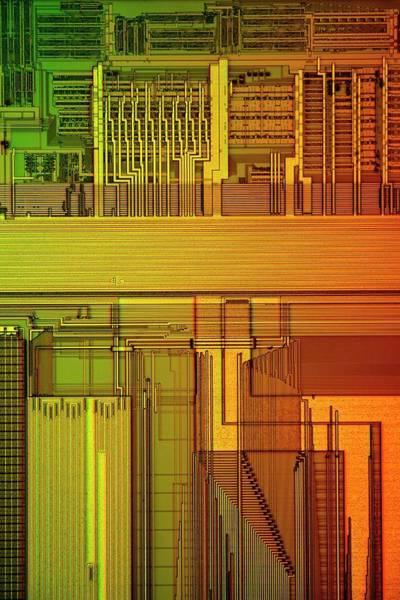 Fetch Photograph - Microprocessor Components by Antonio Romero