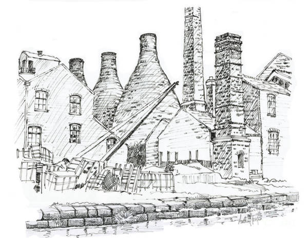Wall Art - Drawing - Middleport Pottery by Anthony Forster