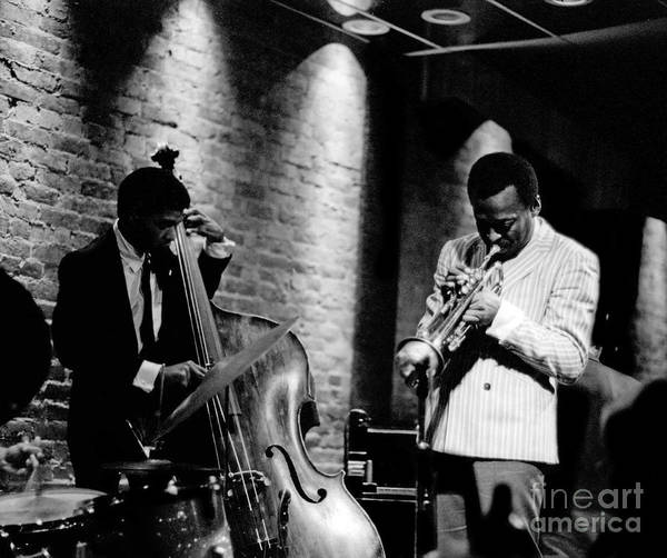 Musical Artists Photograph - Miles Davis And Buster Williams At The Penthouse by Dave Coleman
