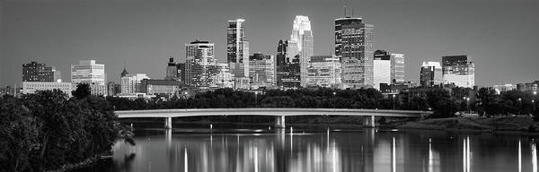 Mississippi River Photograph - Minneapolis Mn by Panoramic Images