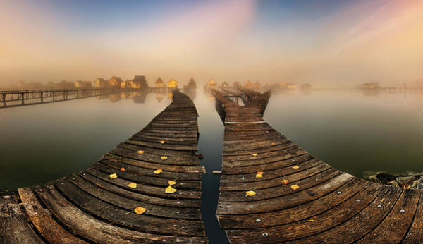 Fishing Village Photograph - Mist... by Krzysztof Browko