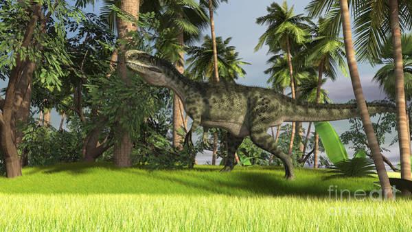 Digital Art - Monolophosaurus In A Prehistoric by Kostyantyn Ivanyshen