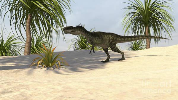 Digital Art - Monolophosaurus In A Tropical by Kostyantyn Ivanyshen