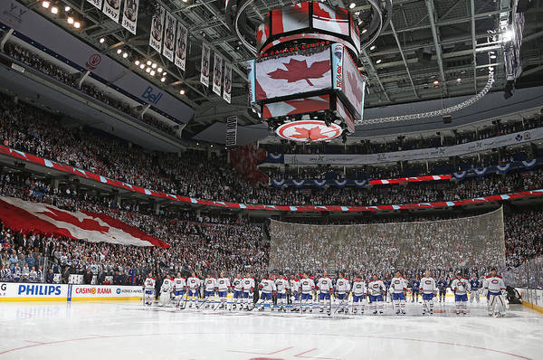 Montreal Canadiens V Toronto Maple Leafs Art Print by Claus Andersen