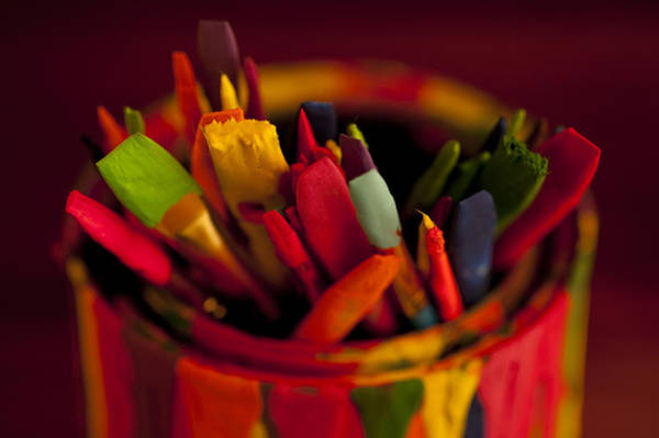 Chest Of Drawers Photograph - Multi Colored Paint Brushes by Jim Corwin