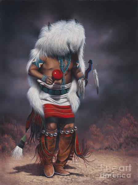 Native Painting - Mystic Dancer by Ricardo Chavez-Mendez