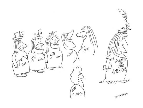 Manhattan Drawing - New Yorker December 7th, 1968 by Saul Steinberg