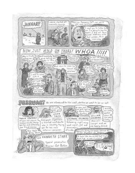 Wall Art - Drawing - New Yorker December 7th, 1998 by Roz Chast