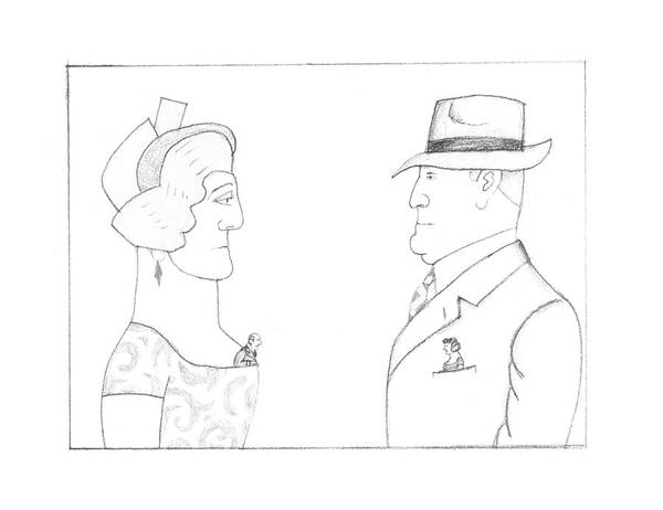 Drawing - New Yorker February 20th, 1995 by Saul Steinberg