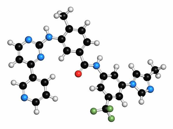 Chronic Wall Art - Photograph - Nilotinib Cancer Drug Molecule by Molekuul