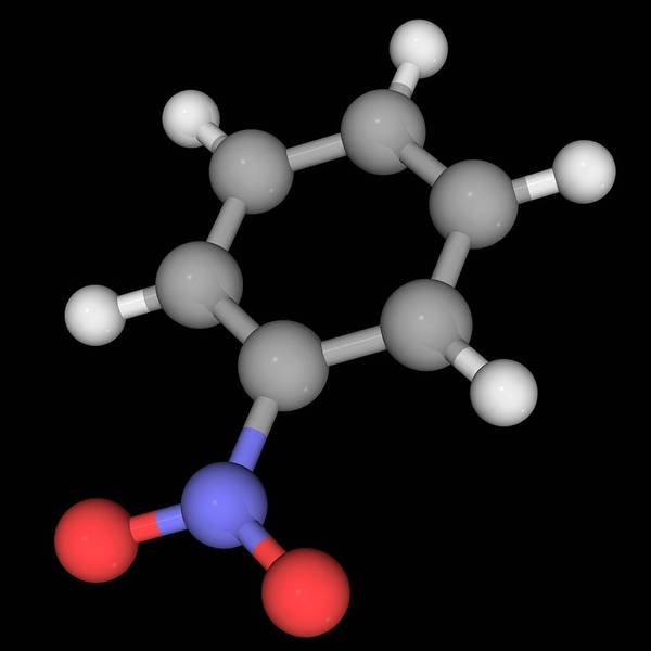 Wall Art - Photograph - Nitrobenzene Molecule by Laguna Design/science Photo Library