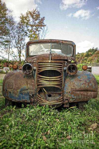 Old Chevy Photograph - Old Junker Car by Edward Fielding