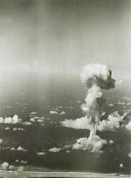 Atomic Bomb Photograph - Operation Crossroads Atom Bomb Test by Library Of Congress