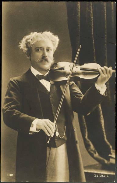Wall Art - Photograph - Pablo Sarasate  Spanish Violinist by Mary Evans Picture Library