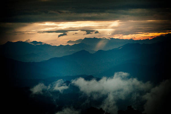 Photograph - Panaramic Sunset Himalayas Mountain Nepal by Raimond Klavins