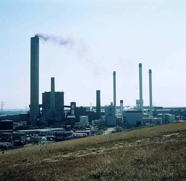 Chimnies Photograph - Paper Mill by Robert Brook/science Photo Library