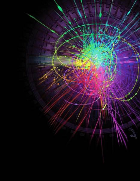 Proton Photograph - Particle Collision by Jean-francois Podevin/science Photo Library