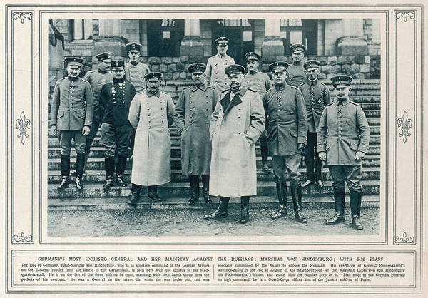 Wall Art - Photograph - Paul Von Hindenburg  German General by Mary Evans Picture Library