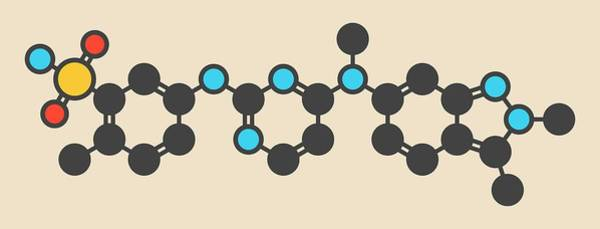 Wall Art - Photograph - Pazopanib Cancer Drug Molecule by Molekuul