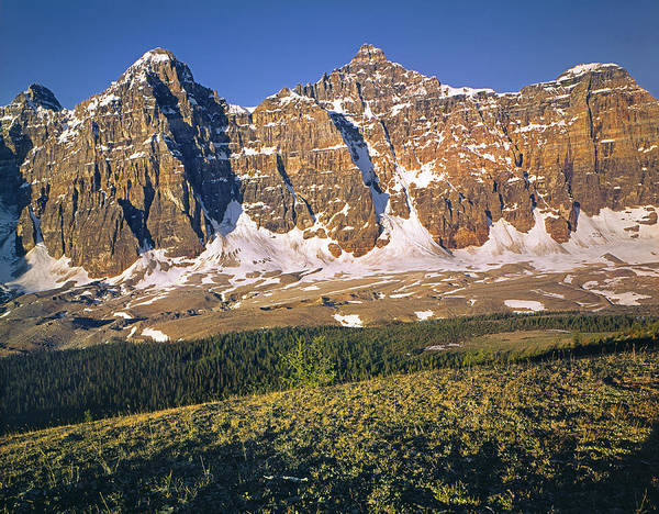 Photograph - 1m3420-b-three Peaks In Moraine Valley by Ed  Cooper Photography