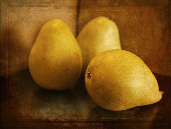 Vegetarian Digital Art - Pears by Maria Angelica Maira