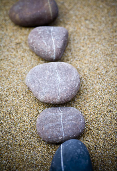 Founded Photograph - Pebbles by Frank Tschakert
