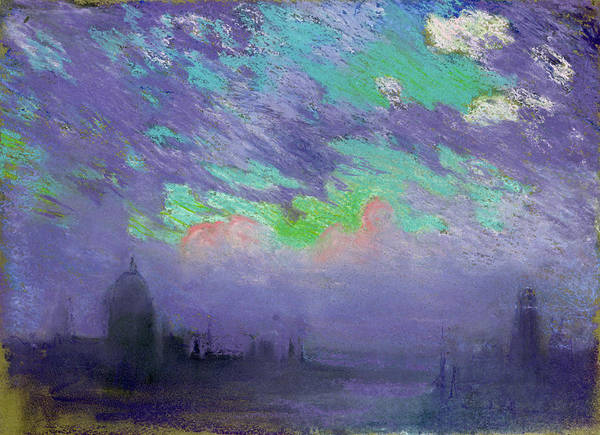 Twilight Drawing - Pennell London, C1905 by Granger