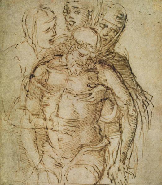 Madonna Drawing - Pieta by Italian School