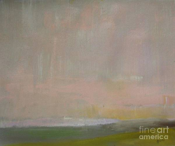 Abstract Painting - Pink Dusk by Vesna Antic