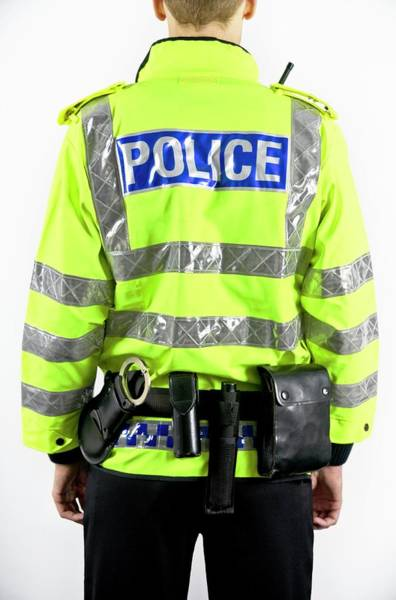 Asps Photograph - Policeman by Gustoimages/science Photo Library